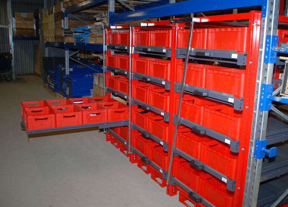 Estanter as telesc picas m dulos de almacenaje compacto for Estanteria telescopica